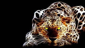 4K Wallpaper of 3D Leopard