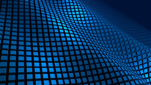 4K Wallpaper of Grid Blue 3D Pattern