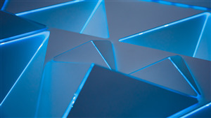 5K 3D Wallpaper of Blue Triangles Pattern