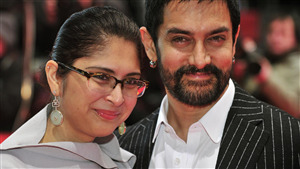 Indian Film Actor Aamir Khan with Her Spouse Kiran Rao