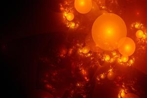 Bubbles Orange Abstract Background