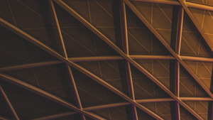 Building Ceiling Structure Hexagon Pattern Abstract Wallpaper