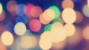 Colorful Bokeh Effect in Blue Background Abstract Wallpaper