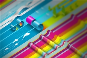 Colorful Paper Roll Abstract HD Photos
