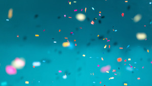 Confetti in Sky Background 4K Wallpaper