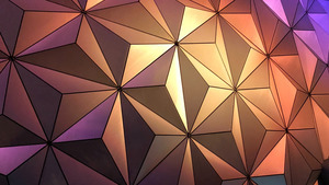Lighting Creating Triangle in Dome Abstract Wallpaper