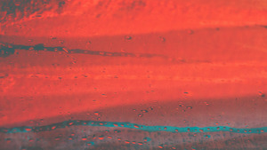 Red Glass on Drop Water 5K Abstract Wallpaper