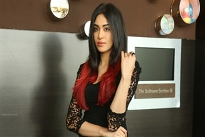 Actress Adah Sharma in Black and Red Hair Wallpaper