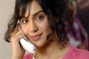 Adah Sharma on Phone