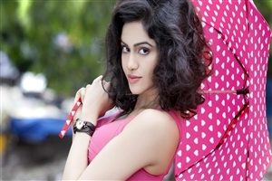 Adah Sharma with Pink Umbrella Photo