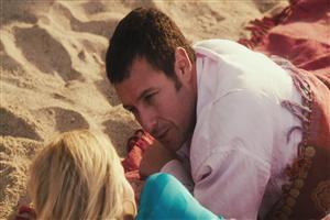 Adam Sandler on Beach With Girl