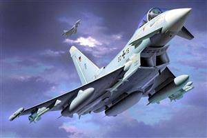 Eurofighter Typhoon Twin Engine Canard Delta Wing Fighter Plane