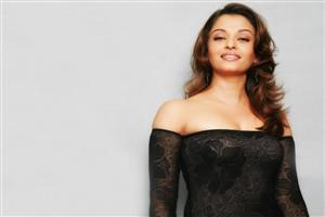 Crazy Pose of Aishwarya Rai in Black