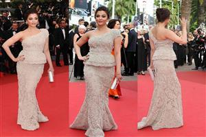Three Pose of Aishwarya Rai in Red Carpet