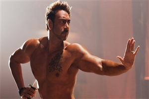 Ajay Devgan Six Pack Abs Body with Tatto HD Wallpapers