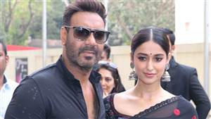 Film Star Ajay Devgan and Ileana DCruz in Black Dress