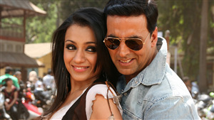 Indian Film Actress Trisha with Actor Akshay Kumar