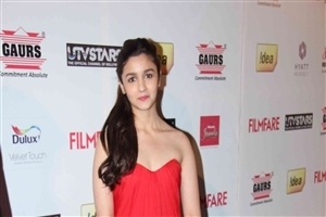 Alia Bhatt in Red Dress HD Wallpaper