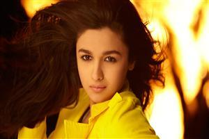 Alia Bhatt in Yellow Shirt