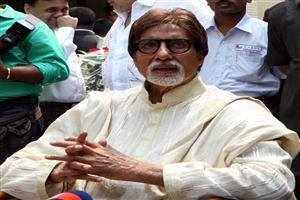 Amitabh Bachchan in White Cloth