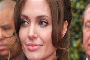 Angelina Jolie Face CloseUp Photo