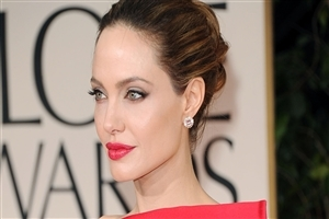 Beautiful Angelina Jolie in Red Lips