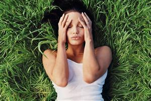 Hot Angelina Jolie Sleeping on Grass