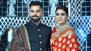 Anushka Sharma with Virat Kohli Weding Photo