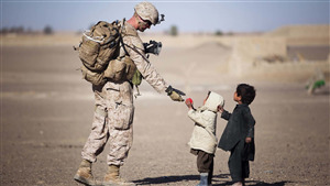 Army Soldier Love to Child