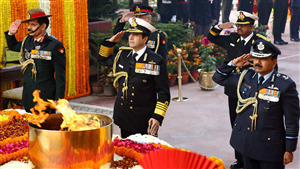 The Salutes of The Indian Soldier