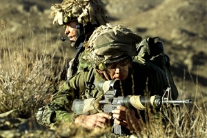 Two Army Man on Position of Fire Wallpapers