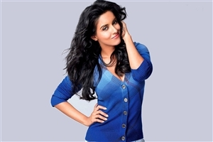 Actress Asin Thottumkal in Blue Top