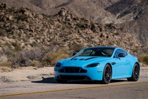2015 Blue Aston Martin V12 Vantage S Front Cars Nice Photos