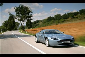 Aston Martin Vantage V8 on Road
