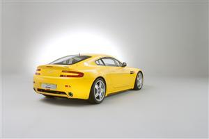 Beautiful Yellow Aston Martin Vantage N24