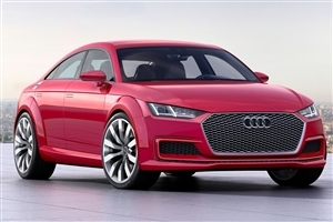 New Audi TT Sportback Concept Red Color Car HD Desktop Laptop Background Wallpaper
