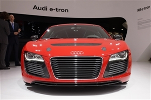 New Red Latest Audi R8 e tron Prototype Launch Car Wallpapers