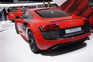 New Super Latest Audi R8 e tron Prototype Back View of Cars Wallpapers