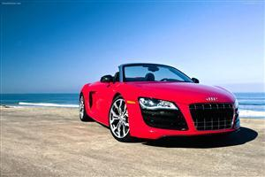 Red Audi R8 GT in Beach Car Wallpapers