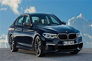 2018 New BMW 5 Series Black Car