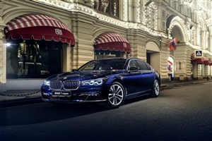 BMW 7 Series Luxury Blue Car HD Wallpapers