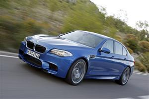 Blue BMW M5 Series Car
