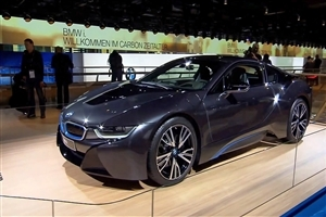 Latest New 2013 Sophisto Gray BMW i8 Luxury Cars at Launch Time Wallpapers