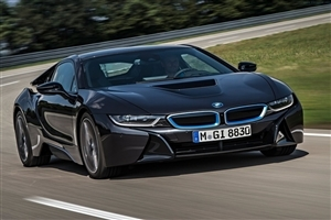 Latest New BMW i8 Front Side Popular HD Luxury Car on Road Wallpaper