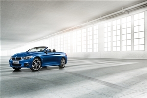 Latest New Blue BMW 4 Series Convertible Open Car Wallpapers