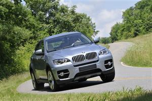 Silver BMW X6 Active Hybrid Car