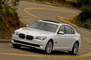 White BMW 7 Series Car