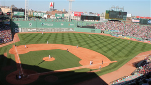 Fenway Baseball Park in Boston Massachusetts US Wallpaper