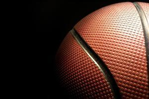 Basketball Ball in Black Background