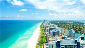 Miami Beach in City of Florida US Wallpaper